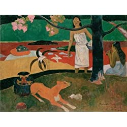 High Quality Polyster Canvas ,the Vivid Art Decorative Prints On Canvas Of Oil Painting 'Pastorales Tahitiennes,1892 By Paul Gauguin', 30x39 Inch / 76x100 Cm Is Best For Bar Artwork And Home Decor And Gifts