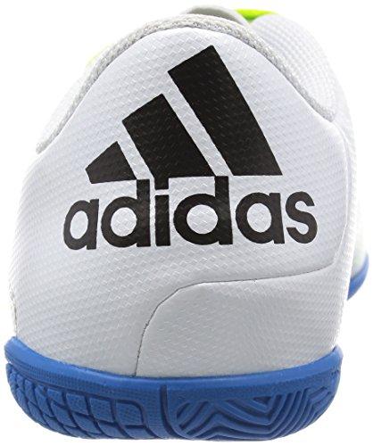 adidas Unisex-Kinder X 15.4 Indoor J Fußballschuhe Weiß (Ftwr White/Semi Solar Slime/Core Black)