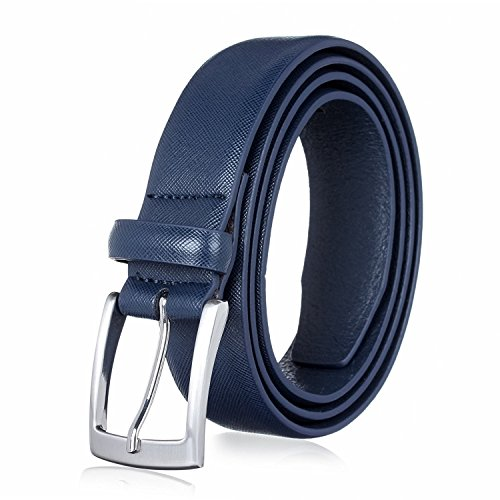 Men's Genuine Leather Dress Belt for Business and Casual Occasions - Classic (Classic Look Classic Belt)