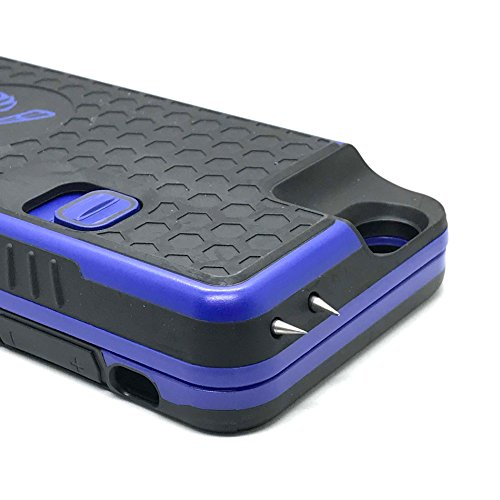 Phone Stun Gun ( The Only High-Powered Smartphone Stun Gun Case and Back Up Battery Fit for Your iPhone by Yellow Jacket - 4.0 mAh Discharge for Maximum Self Defense - Concealed and Detachable - Cobalt Blue)