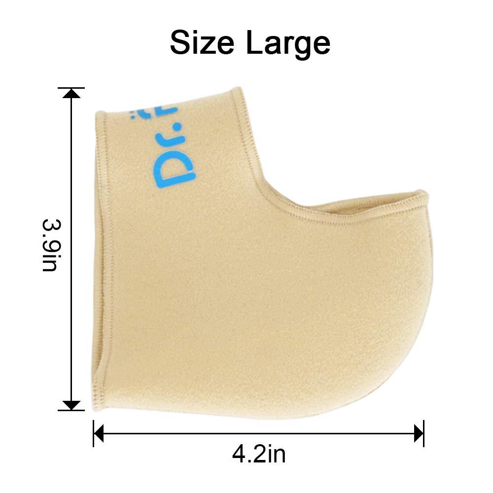Dr. Foot\'s Heel Protectors, Relieve Heel Pain from Plantar Fasciitis,Heel Spur, Cracked Heels (Large - Women\'s 8-13.5 | Men\'s 7-13)