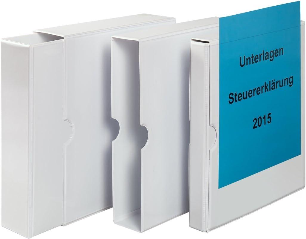 DIN A4 80 mm Eichner Pr/äsentations-Schuber mit Ringbuch