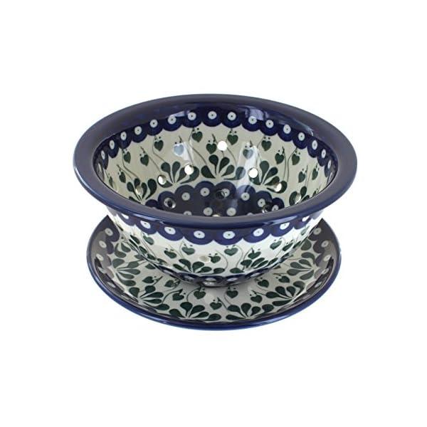 Blue Rose Polish Pottery Alyce Berry Bowl & Plate