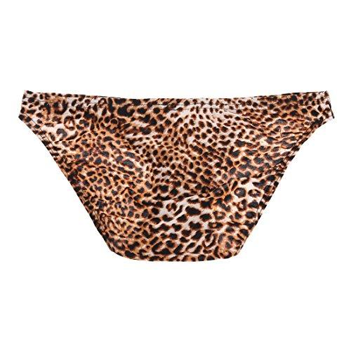 36c85d203a75 YiZYiF Sexy Men's Underwear Leopard Print Bikini Thongs Enhance Pouch  Panties Medium