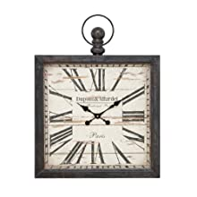 Deco 79 Metal Wall Clock, 32 by 24-Inch