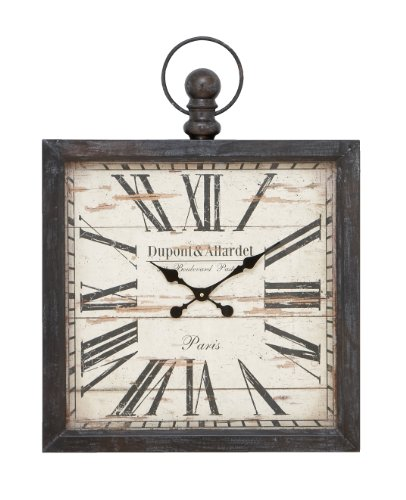 Outdoor Textured Rust Finish Clock (Deco 79 Metal Wall Clock, 32 by 24-Inch)
