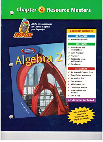 Algebra 2 Chapter 4 Resource Masters