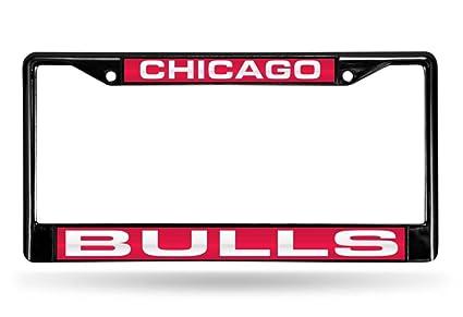 Amazon.com : Rico NBA Chicago Bulls Laser Cut Inlaid Standard Chrome ...