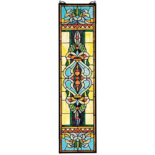 Design Toscano Blackstone Hall Stained Glass Window Hanging Panel, 35 Inch, Stained Glass, Full Color from Design Toscano