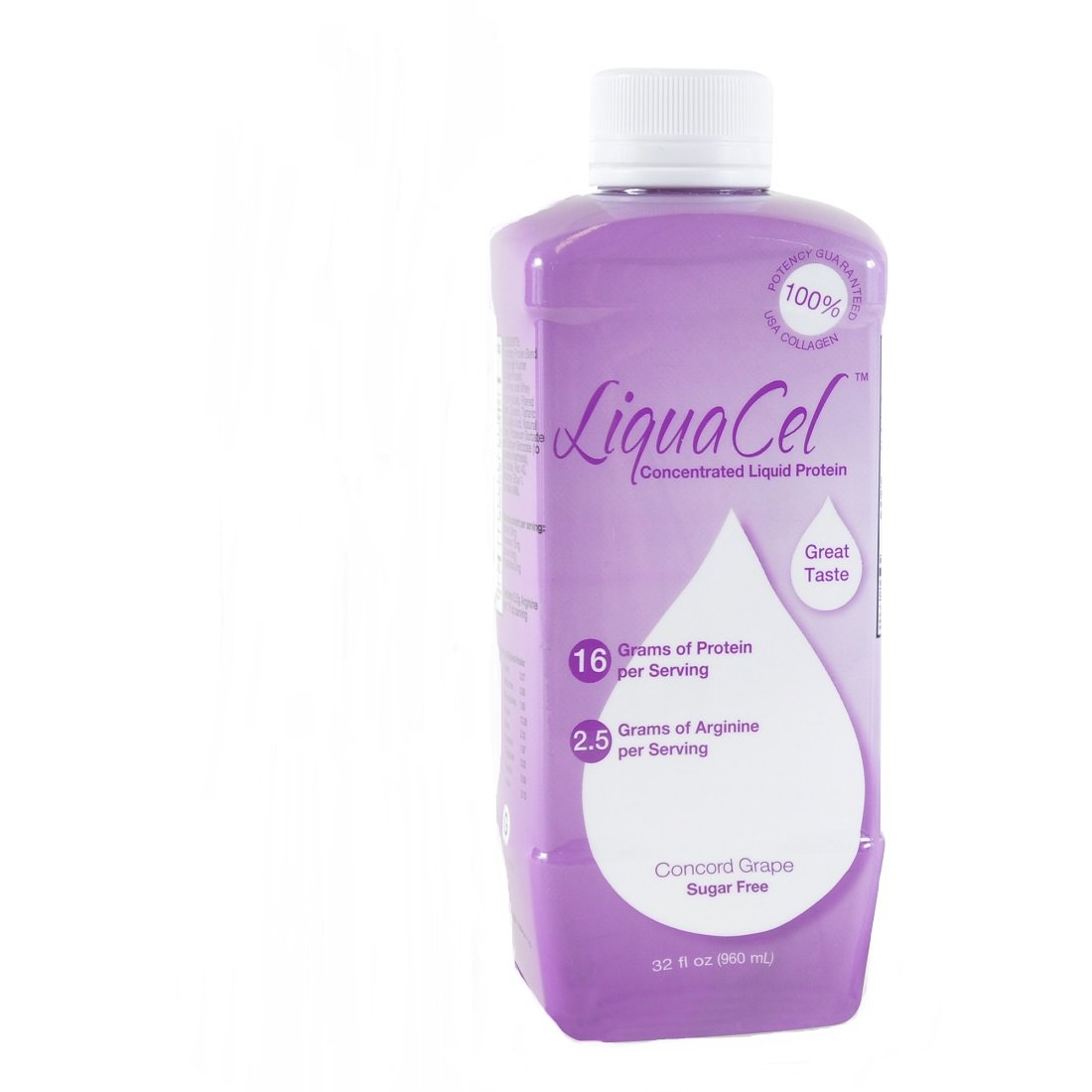 Special Pack of 3 - LiquaCel Protein (GH94) GRAPE ONLY, 32oz Bottles by Marble Medical (Image #1)