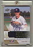 Bryce Harper Autograph 2009 Upper Deck USA Jersey Card #/899 Signed Washington Nationals