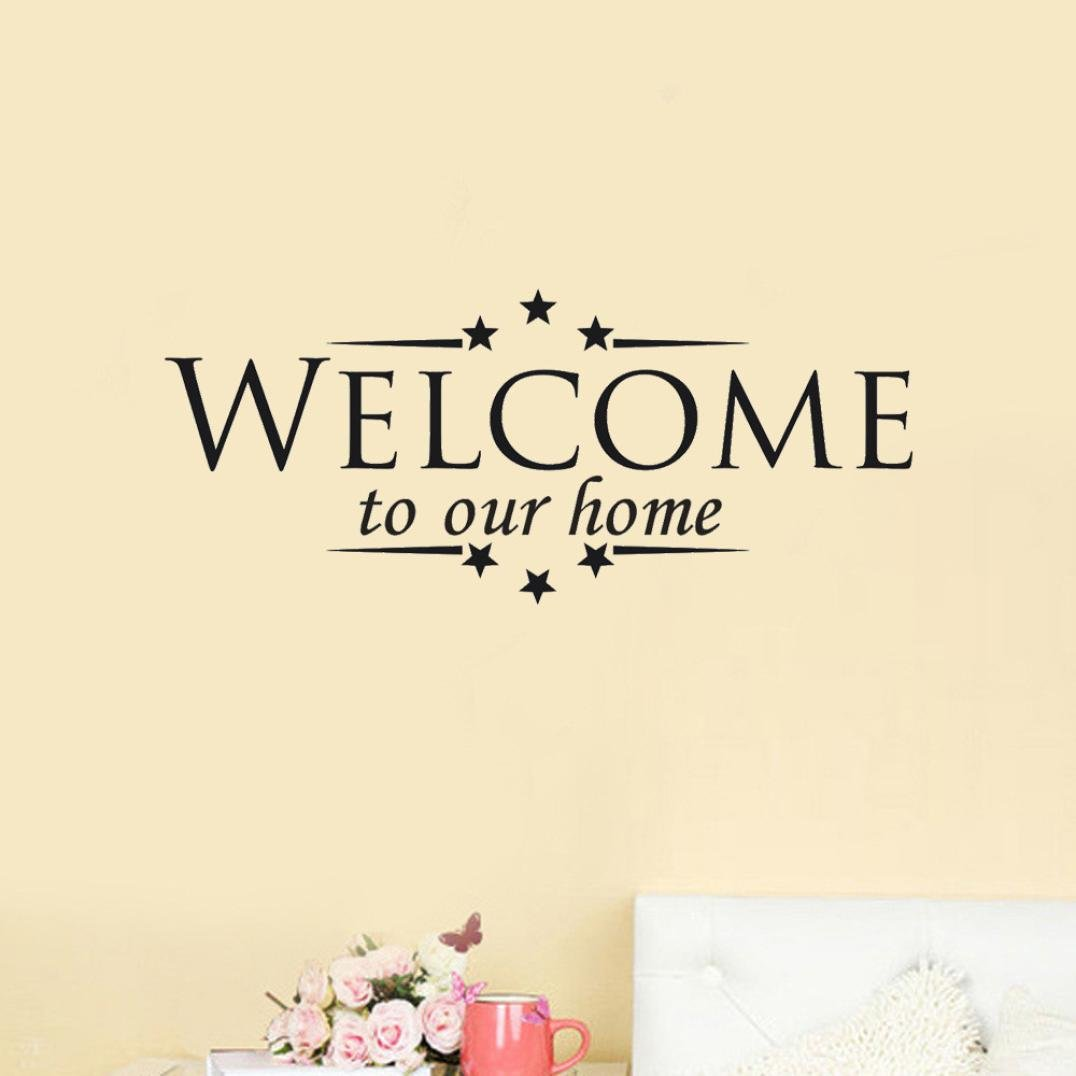 DIY Wall Art Decals,HP95(TM) [Welcome To Our Home ] Removable Mural Wall Stickers Room Home Decor