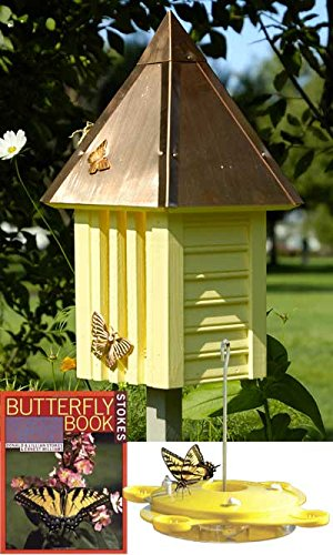 BestNest Flutterbye Butterfly House with Feeder and Book by BestNest
