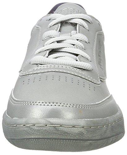 Gris Chaussures De Tdg Club Gymnastique silver Met Reebok C Homme 85 snowygrey XIawRXx8q