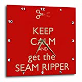 Cheap 3dRose dpp_172004_2 Keep Calm and Get The Seam Ripper. Red and White-Wall Clock, 13 by 13-Inch