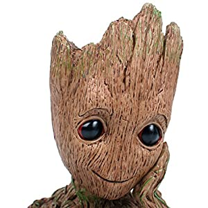 """Aotuman Desk Organizer, Pencil holder, Flowerpot Perfect for Mini Succulents, The Galaxy Groot Action Figures Model Toy Office Storage, Candy Dish, Festival Gift Idea 6"""""""