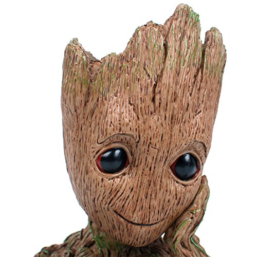 (Aotuman The Galaxy Groot Action Figures Model Toy Pen Pot,Tree Man Flowerpot,Perfect for Mini Succulens,Office Storage,Candy Dish,Festival Gift Idea 6'')