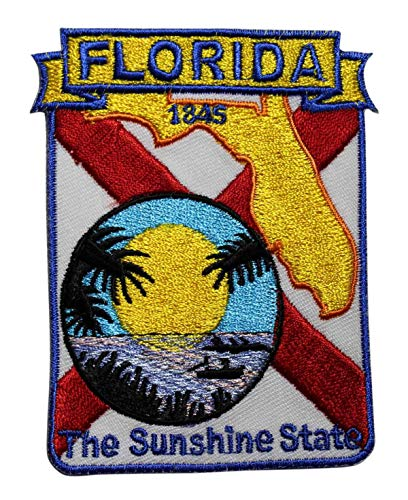 Embroidery Patch State of Florida Travel Souvenir Flag 2 1/2