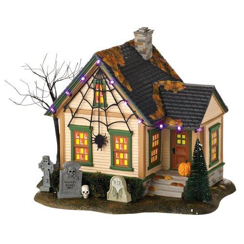 Department 56 Snow Village Halloween The Spider House Lit Building, 8.27 inch (56 Halloween Spider)