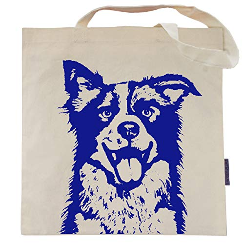 Max the Border Collie Tote Bag - by Pet Studio Art