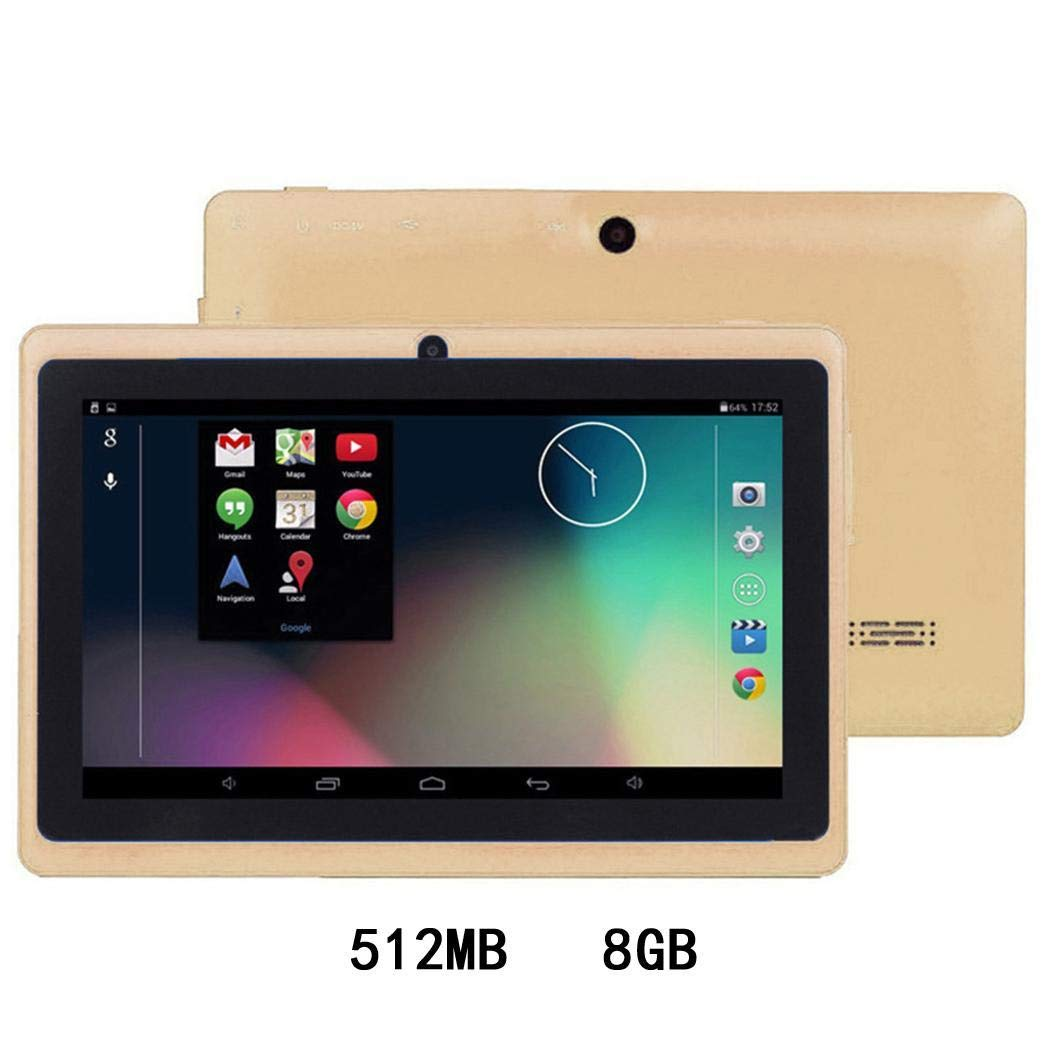 wareg 7-Inch HD Touch Screen Children Tablet PC Quad-Core 512MB 4/8GB Dual Camera Tablets