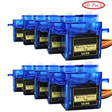 10x Pcs SG90 Micro Servo Motor 9G RC Robot Helicopter Airplane Boat Controls