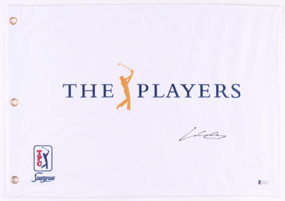 SI WOO KIM SIGNED THE PLAYERS TOURNAMENT FULL SIZED GOLF PIN FLAG w/BECKETT COA
