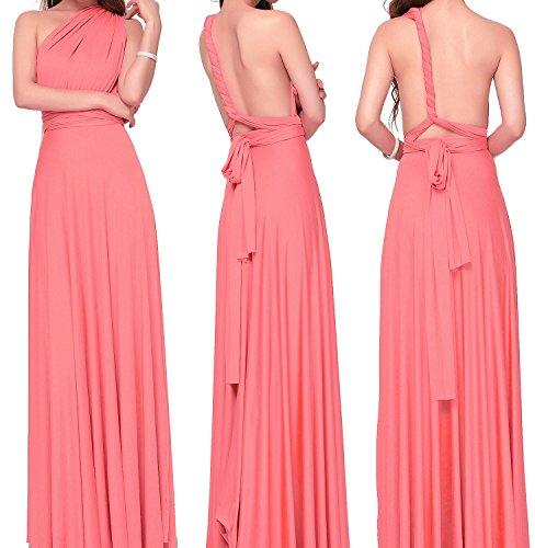 Infinity Convertible Multiway Wrap Maxi Coral Women's Vivicastle Dress Long vqtFII