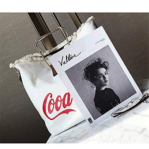 Canvas Shoulder Harajuku Single Bag Students Gtmlg Women's Tide Creative Version Package Large Korean Hundred Capacity d8Cqvwz