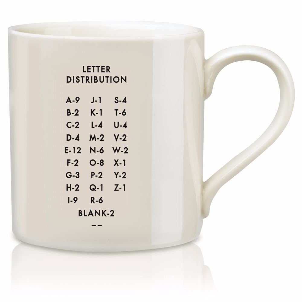 Amazon.com: Scrabble Letter Ceramic A Scrabble Mug, Cream/Black (14  Ounces): Kitchen & Dining