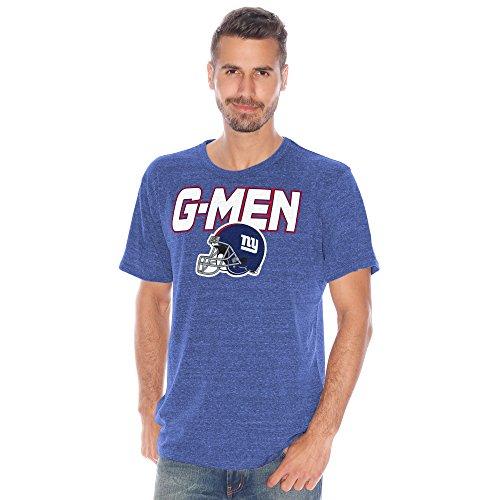 NFL New York Giants Men's Championship Tri-Blend Short Sleeve Tee, XX-Large, Royal - Giant Blend