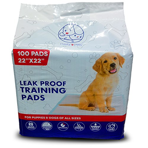 Pouty Pets 100 Puppy Pads - Disposable & Absorbent Training Pad Dogs - Leak-Proof, Tear Resistant, Odor-Eliminating & Anti-Bacterial Potty Pads Pet Attractant - Absorbs Dog Pee Quickly by Pouty Pets (Image #7)