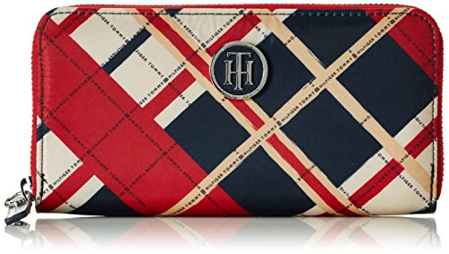 Tommy Hilfiger Damen Poppy Large Z/A Wallet Check Geldbörsen, Mehrfarbig (Corporate 901 901), 19x10x2 cm