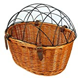 Dog Basket for Bike Wicker Basket Bicycle Front Pet Cat Dog Carrier Cage Ecological Willow Cage Hanging Basket Rural Style