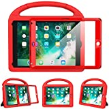 eTopxizu Kids Case for New iPad 9.7 2018/2017 with Built-in Screen Protector, Light Weight Shock Proof Handle Stand Kids Case for iPad 9.7 2017/2018 iPad Air/iPad Air 2/iPad Pro 9.7 – Red For Sale