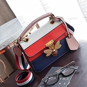 02eeff4683 AASSDDFF Luxury Crossbody bag Women Colorful splicing Little bee Bags  Designer Handbag Female Shoulder Bags Messenger