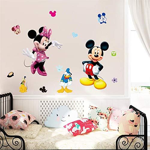 Mickey Minnie Mouse Kids Room Decor Disney Wall Sticker Cartoon Mural Decal Home 1pc
