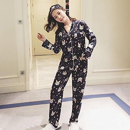WXIN /Invierno Mujer Pijama De Manga Larga De Seda De Hielo/Miss ...
