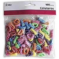 Market Suprem A5202 Pack 100 coleteros, 6 Colores Surtidos, Tela, Multicolor #