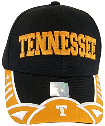 Tennessee Men's Stars & Stripes Adjustable Baseball Cap (Black/Orange) ()