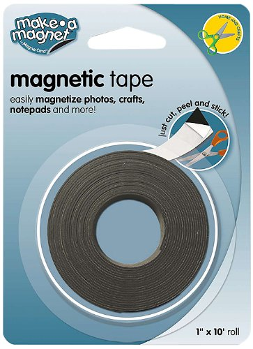 MagnaCard Magnetic Tape, 1 Inch x 10 Feet, Black/White (MT110)