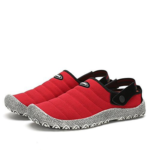 Tessuto Uomo Slip Donna Antiscivolo Vintage On Tela di Giardinaggio Pantofole Unisex Stile Maniamixx Scarpe Casual Scarpe da Rosso Scarpe in ATRgxx