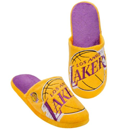 LOS ANGELES LAKERS OFFICIAL LOGO PLUSH SLIPPERS SIZE M
