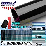 """JDMBESTBOY Free Tool Kit 20""""x120"""" Uncut Roll Window Silver Tint Film Car Glass Office Home Security"""