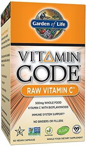 Garden of Life Vitamin C - Vitamin Code Raw C Vitamin Whole Food Supplement, Vegan, 60 Capsules