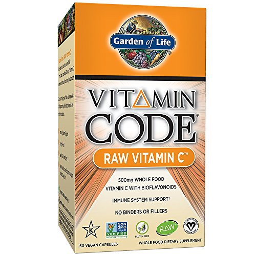 Garden of Life Vitamin C - Vitamin Code Raw C Vitamin Whole Food Supplement, Vegan, 60 Capsules