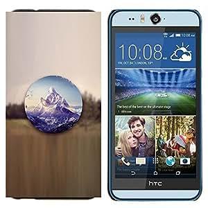 TECHCASE---Cubierta de la caja de protección para la piel dura ** HTC Desire Eye ( M910x ) ** --Paisaje de montaña