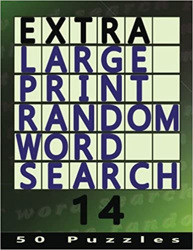 50 Easy To See Puzzles Extra Large Print Random Word Search 14