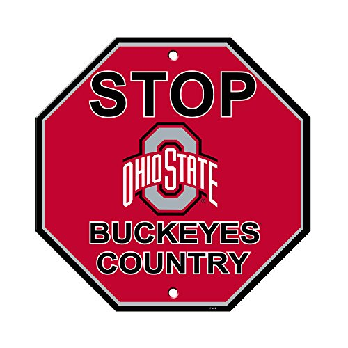 NCAA Ohio State Buckeyes Stop Sign, 12