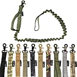 FDC Training Dog Bungee Leash Tactical Heavy Duty with Control Handle Quick Release for Medium Large Dogs (Military GREEN)